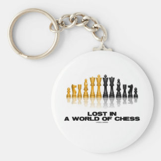 Lost In A World Of Chess (Reflective Chess Set) Keychain