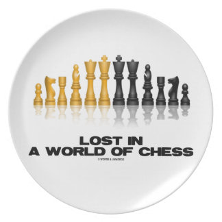 Lost In A World Of Chess (Reflective Chess Set) Plate