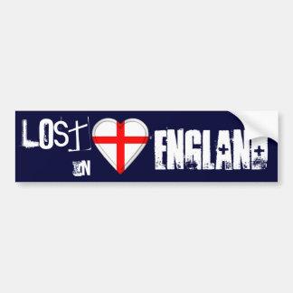 Lost in England flag Heart Car Bumper Sticker