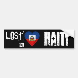 Lost in Haiti Flag Heart Bumper Sticker