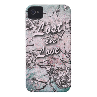 Lost in love floral in soft blue and pink. iPhone 4 case