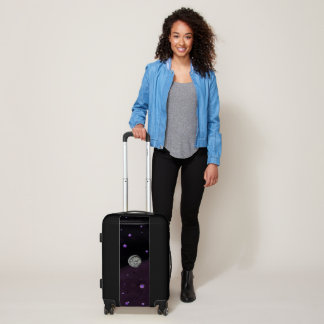 Lost in Midnight Charcoal Stars Luggage