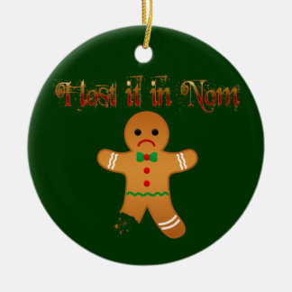 Lost in Nom Ceramic Ornament