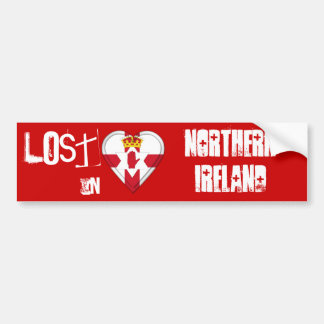 Lost in Northern Ireland Flag Heart Bumper Sticker