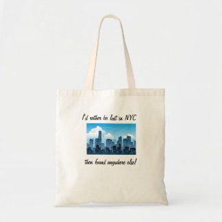 Lost in NYC Funny Tote