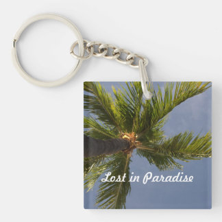 lost in paradise palm tree key chain acrylic key chains