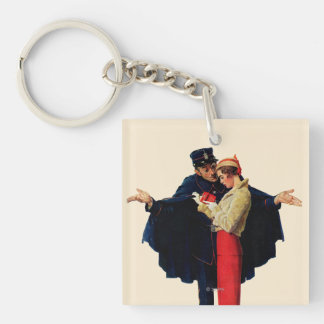Lost in Paris Double-Sided Square Acrylic Keychain