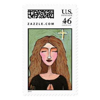 Lost in Prayer - Custom Postage Stamp