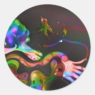 Lost in Rainbow Classic Round Sticker