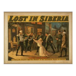 Lost in Siberia, 'Arrest that Women' Retro Theater Postcard