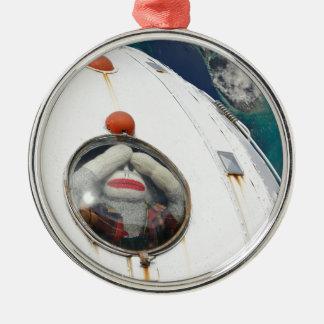 Lost in Space Monkey Metal Ornament