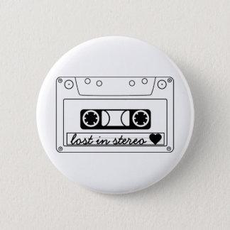 Lost In Stereo Classic Cassette Tape Button