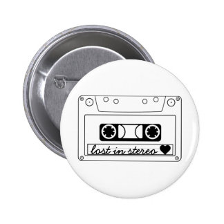 Lost In Stereo Classic Cassette Tape Pinback Buttons