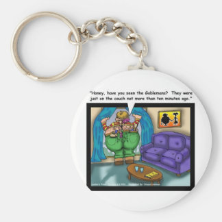 Lost In The Crack Funny Cartoon Gifts Collectibles Basic Round Button Keychain
