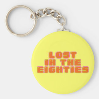 Lost in the Eighties Basic Round Button Keychain