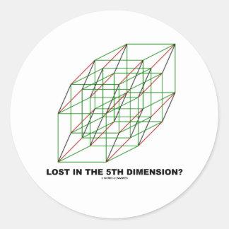 Lost In The Fifth Dimension? (Geometry Attitude) Classic Round Sticker