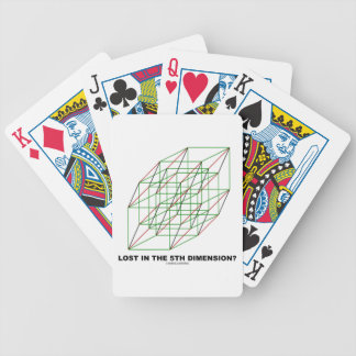 Lost In The Fifth Dimension? (Geometry Cube Humor) Bicycle Playing Cards