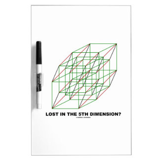 Lost In The Fifth Dimension? (Geometry Cube Humor) Dry Erase Board