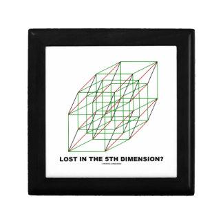 Lost In The Fifth Dimension? (Geometry Cube Humor) Keepsake Box