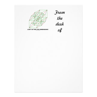 Lost In The Fifth Dimension? (Geometry Cube Humor) Letterhead