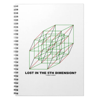 Lost In The Fifth Dimension? (Geometry Cube Humor) Notebook