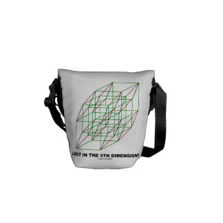 Lost In The Fifth Dimension? (Math Geometry Humor) Courier Bag