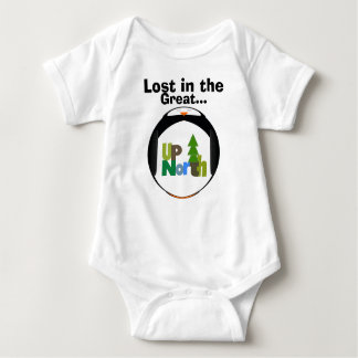 Lost in the Great UP North T-Shirt... - Baby Bodysuit