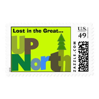 Lost In-Up North Postage Stamp