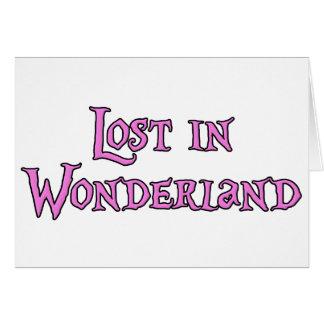 Lost in Wonderland Card
