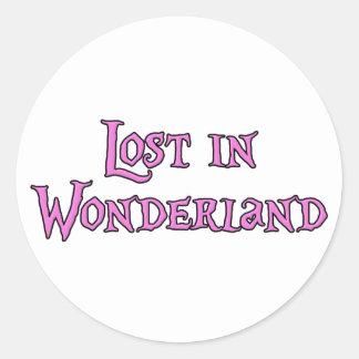 Lost in Wonderland Classic Round Sticker