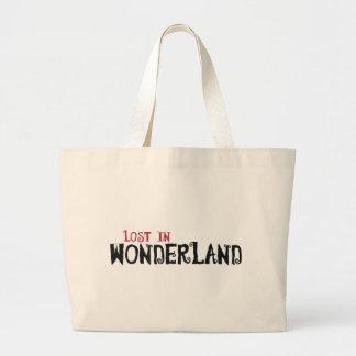 Lost in Wonderland Large Tote Bag