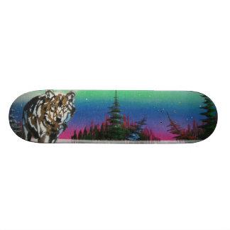 Lost Island spray can art skateboard