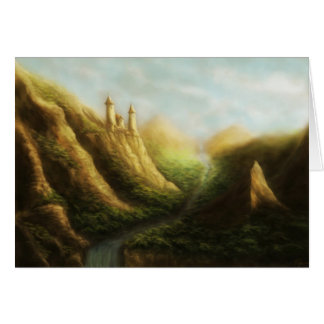 lost kingdom fantasy landscape note card