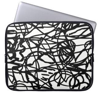 Lost lines laptop sleeve