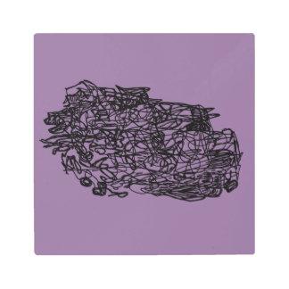 Lost lines metal print