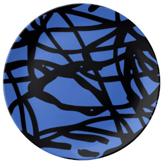 Lost lines porcelain plate