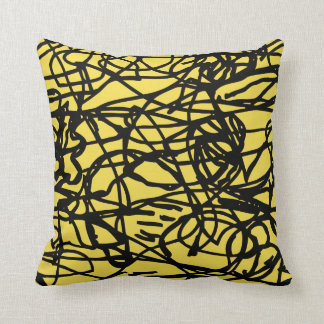 Lost lines throw pillow