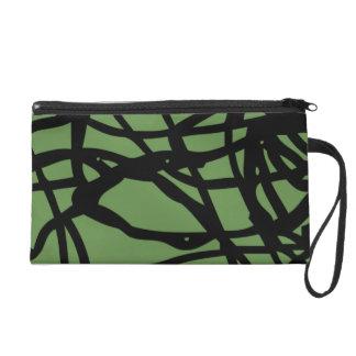 Lost lines wristlet purse