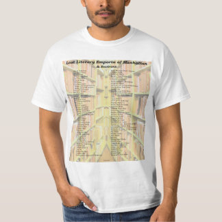 Lost Literary Emporia of Manhattan (and Environs) T-Shirt