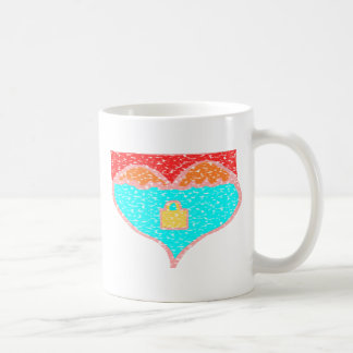 Lost Love Locks Classic White Coffee Mug