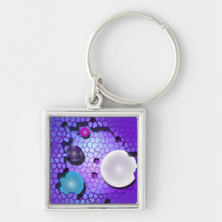 Lost Marbles Silver-Colored Square Keychain