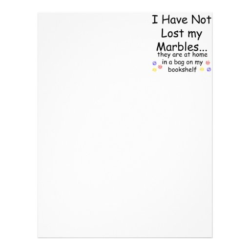 Lost Marbles Letterhead Template