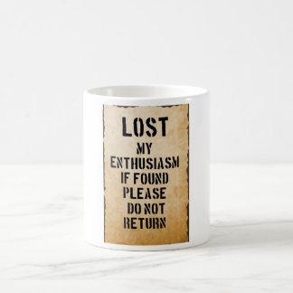 lost my enthusiasm coffee mug