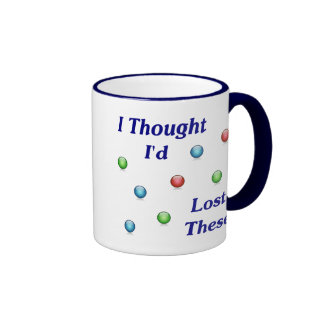 Lost My Marbles Ringer Coffee Mug