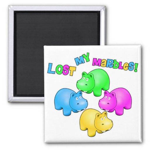 Lost My Marbles Parody Fridge Magnet