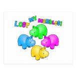 Lost My Marbles Parody Postcard