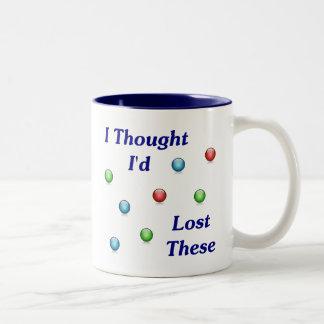 Lost My Marbles Two-Tone Coffee Mug