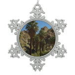 Lost Palms Oasis I at Joshua Tree National Park Snowflake Pewter Christmas Ornament