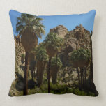Lost Palms Oasis I at Joshua Tree National Park Throw Pillow