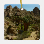 Lost Palms Oasis II at Joshua Tree National Park Ceramic Ornament